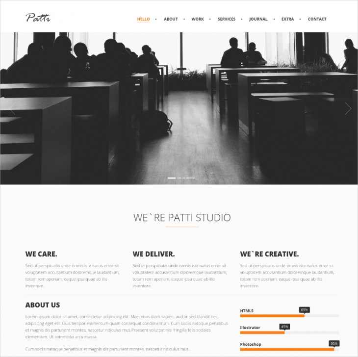 Elegant One Page WordPress Theme