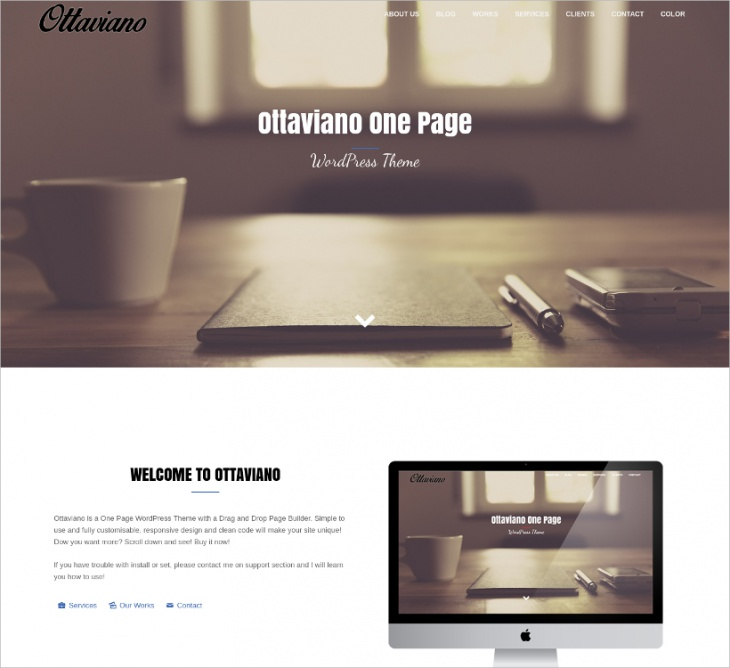 Minimal One Page Website Template