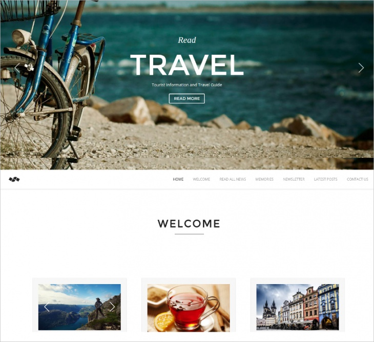 One Page Travel Template