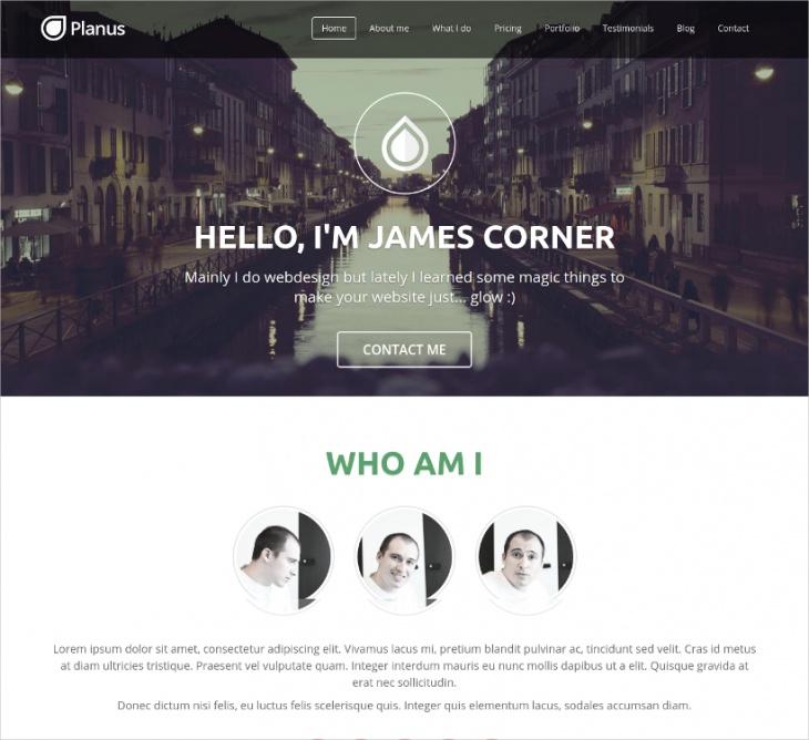 Single Page Site Template