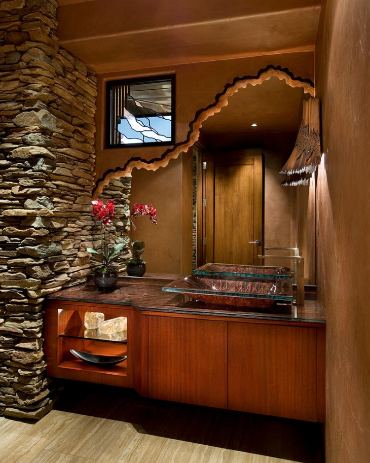Awesome Brown Bathroom Vanity Idea
