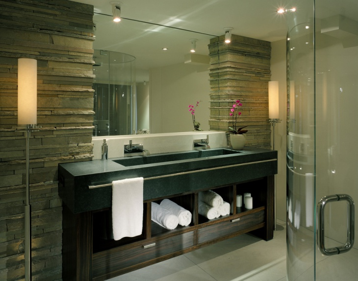 Contemporary Master Bathroom Vanity Design