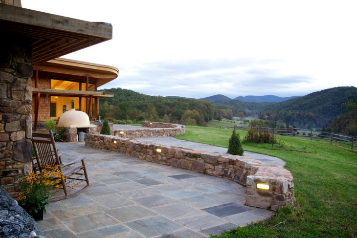 rustic stone patio design