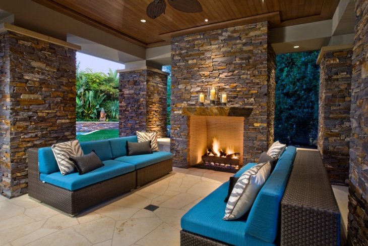 stone patio furniture design