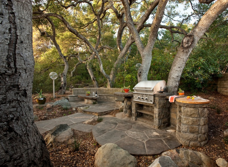 outone stone patio oven idea