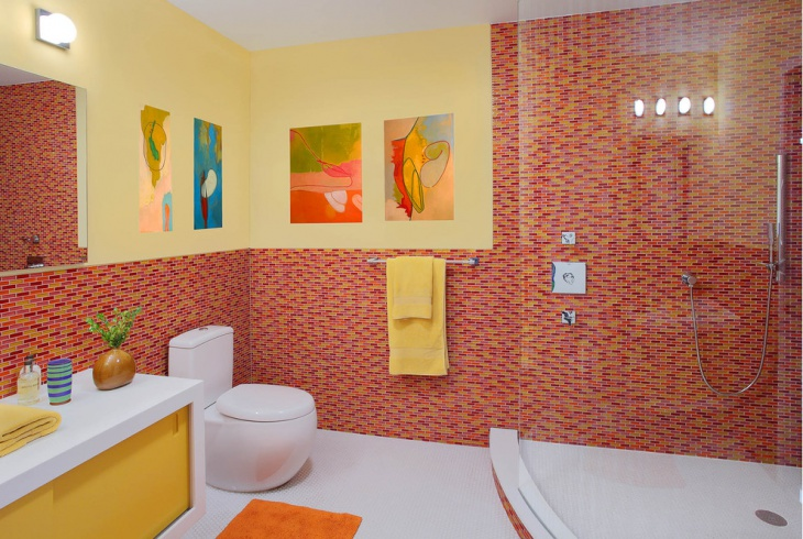 15 kids bathroom designs decorating ideas design for Bathroom ideas yellow tile