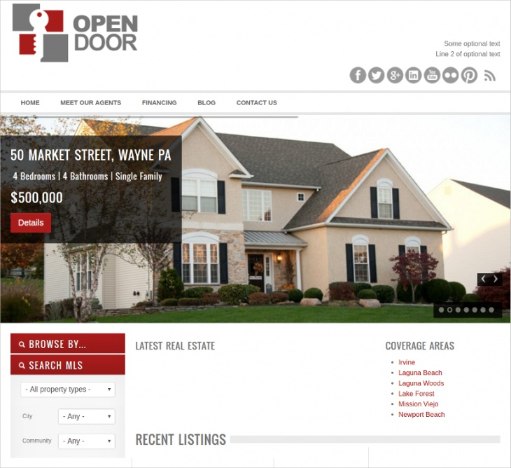 open door real estate theme