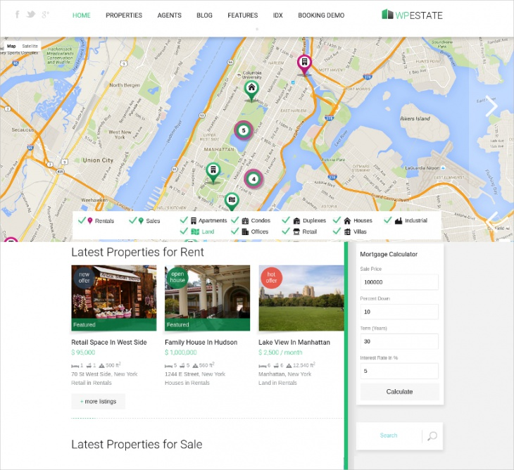 property listing booking theme