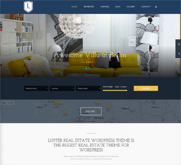 property listing wordpress theme