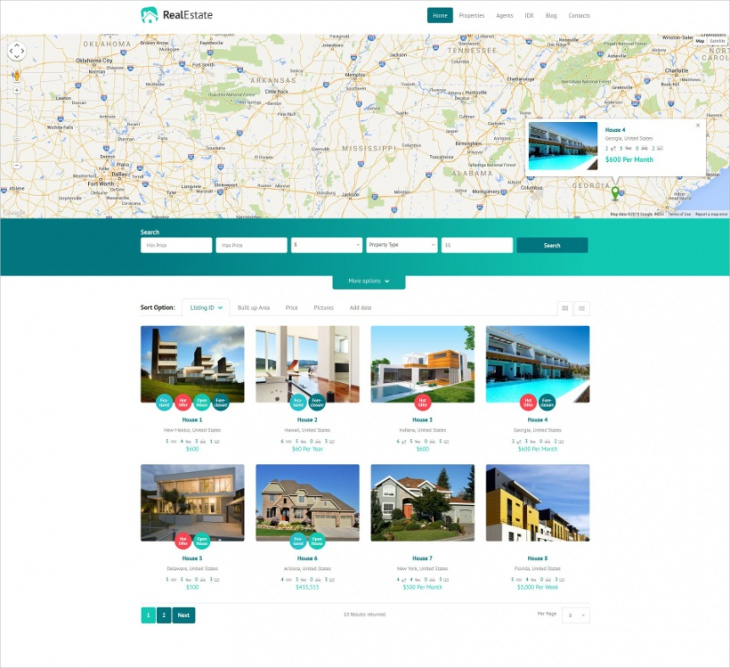 real estate listing wordpress theme