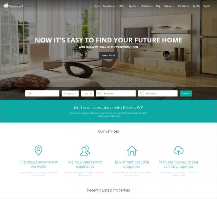 wordpress responsive real estate theme