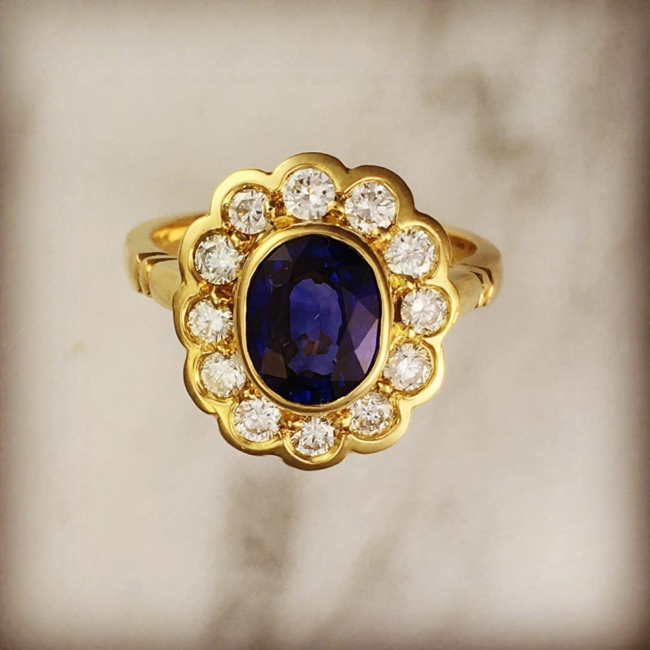 vintage floral diamond ring