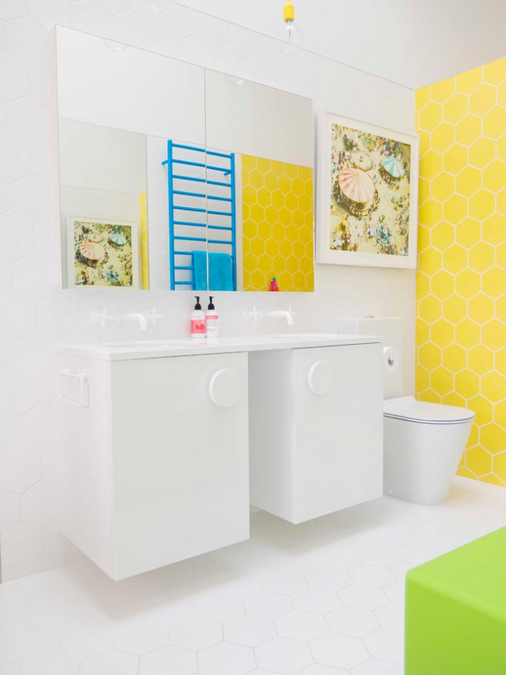 Yellow and Blue Bathroom Design Picture