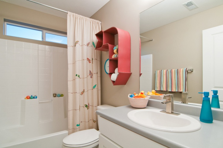 minimalist kids bathroom design