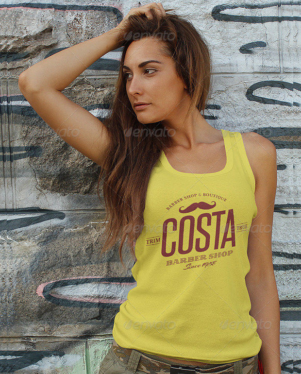 Ladies Tank Top Mockup