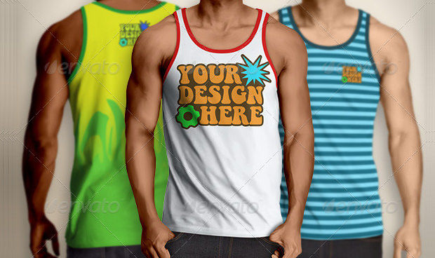 Adjustable Men Tank Top Mockup