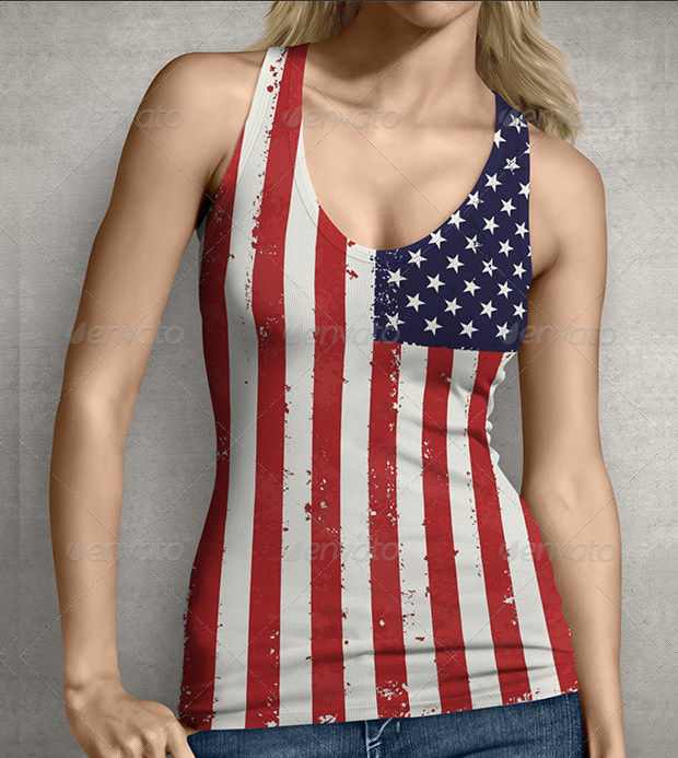 Ladies Racerback Tank Top Mockup