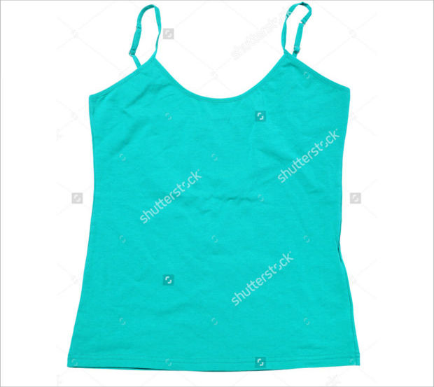 cool turquoise tank top mockup template