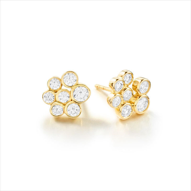 simple wedding diamond stone earrings
