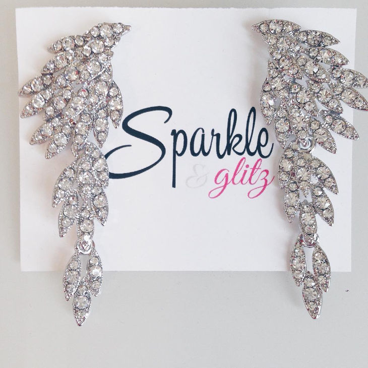 beautiful sparking earrings