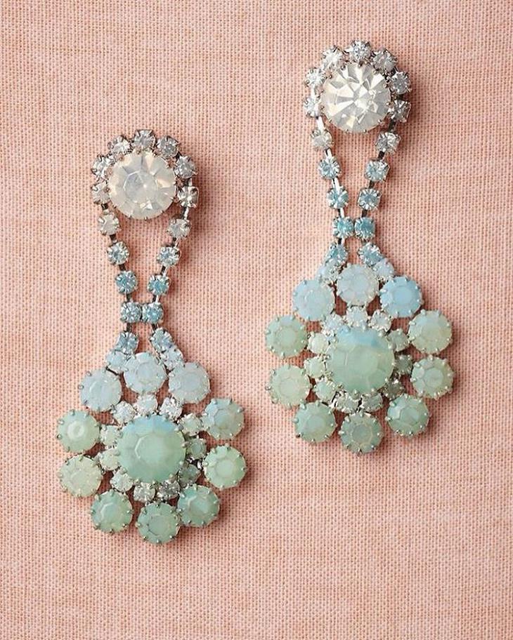 Blue Stone Wedding Earrings
