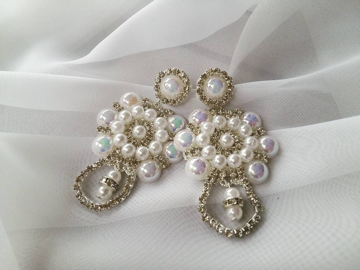 wedding pearl earrings design
