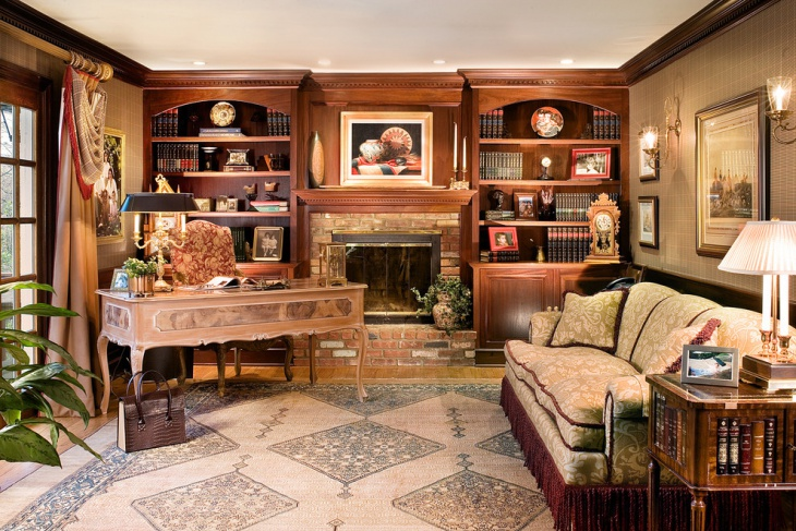 20+ Library Home Office Designs, Decorating Ideas  Design  ~ 150243_office decorating ideas home