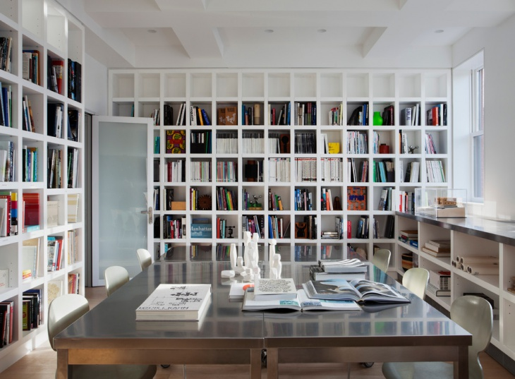 modern home library office