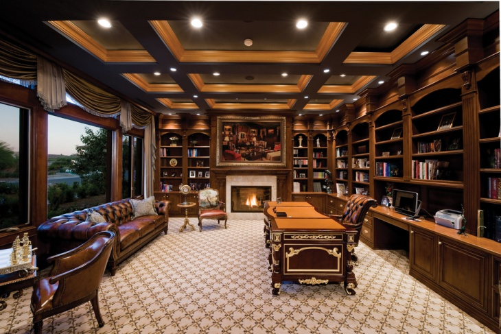 beautiful home office library decorating ideas