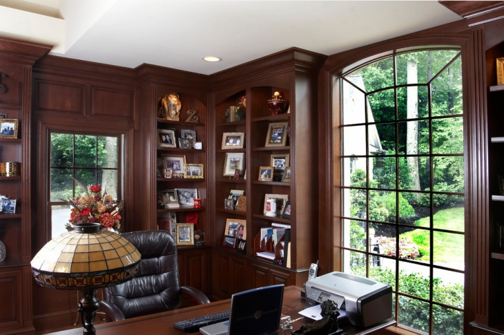 20 library home office designs decorating ideas design for Custom home library design