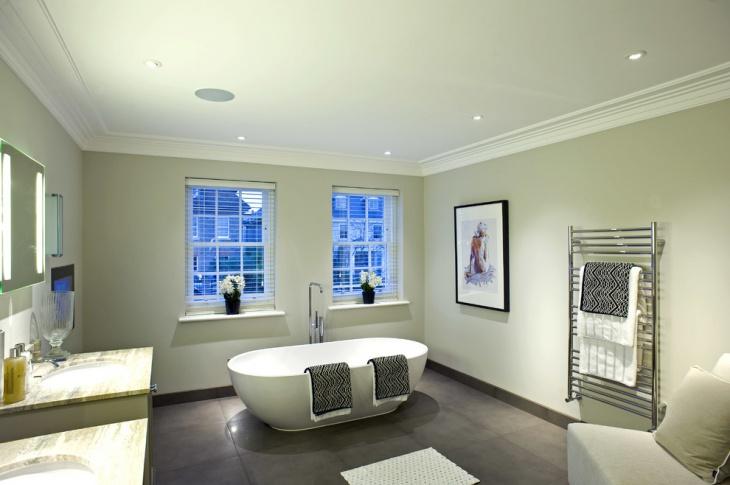 Patterned Bath Towel Idea
