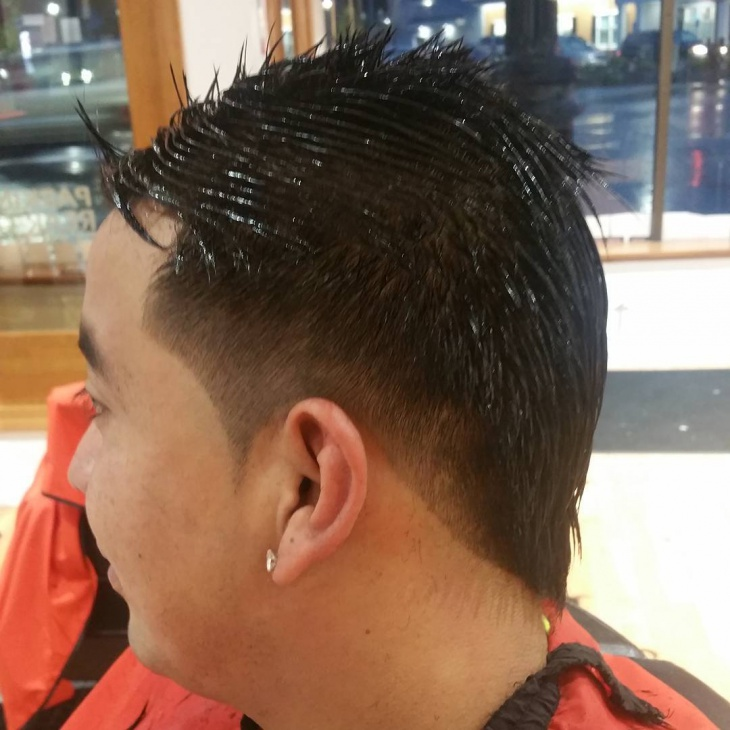 Side Mohawk Fade Haircut
