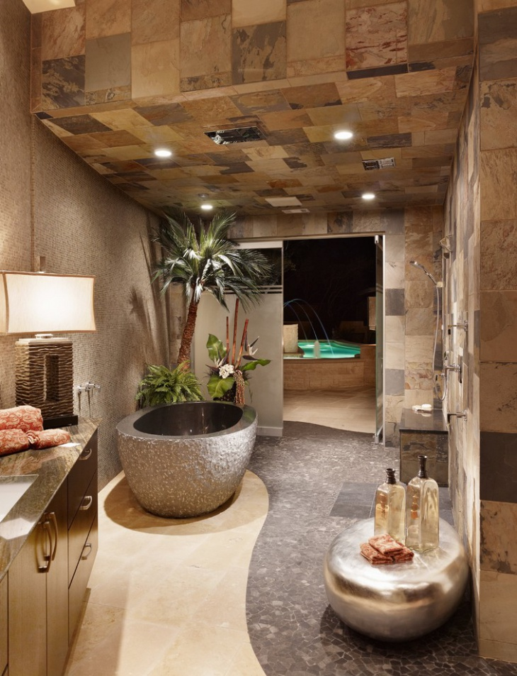 Ultra Modern Spa Master Bathroom.