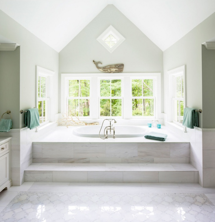 Beach Style Bathroom Design Makeover