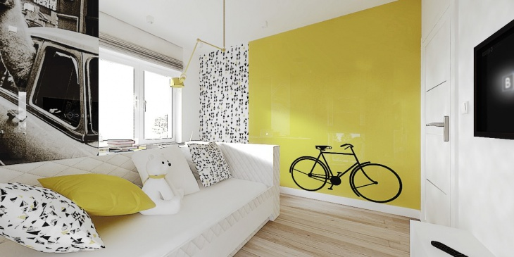 kids room bicycle wall art - Kids Room Wall Design