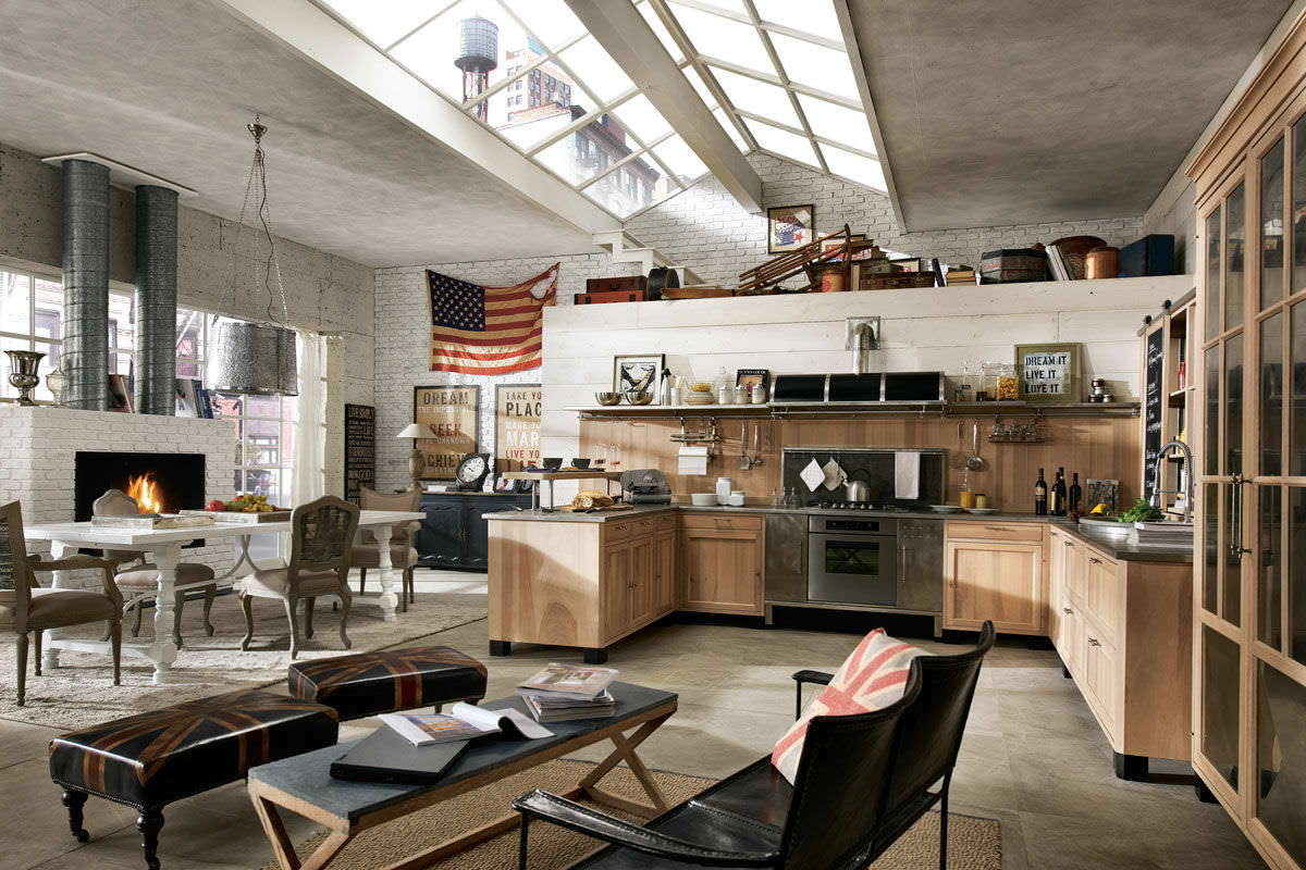 18 industrial style designs decorating ideas design for Industrial style kitchen