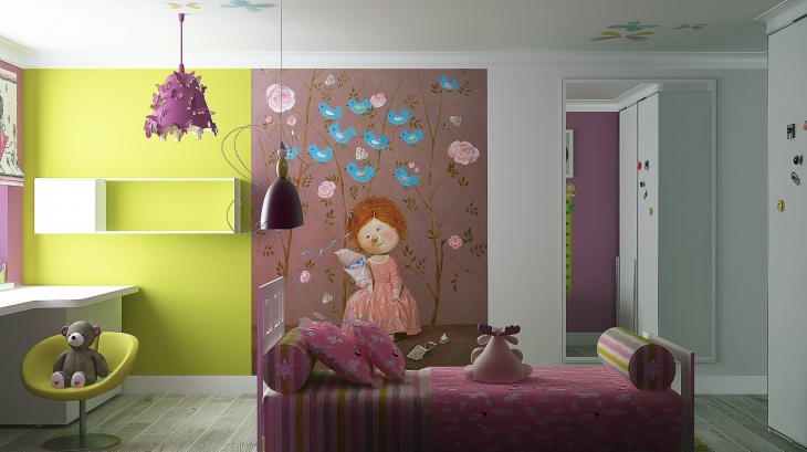 Kids Room Wall Mural Design