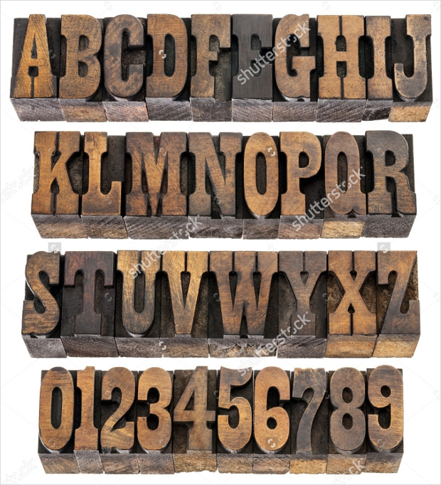 Letters and Numbers in Western Fonts