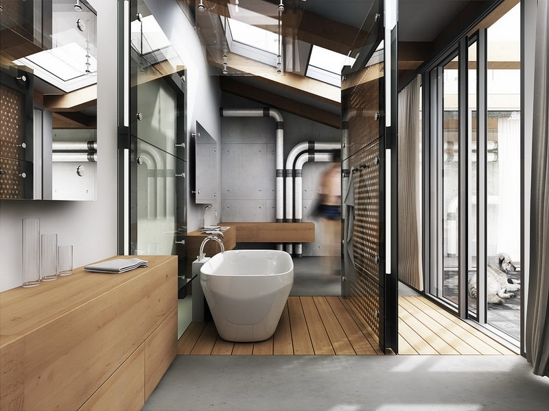 Bathroom Industrial Style Design