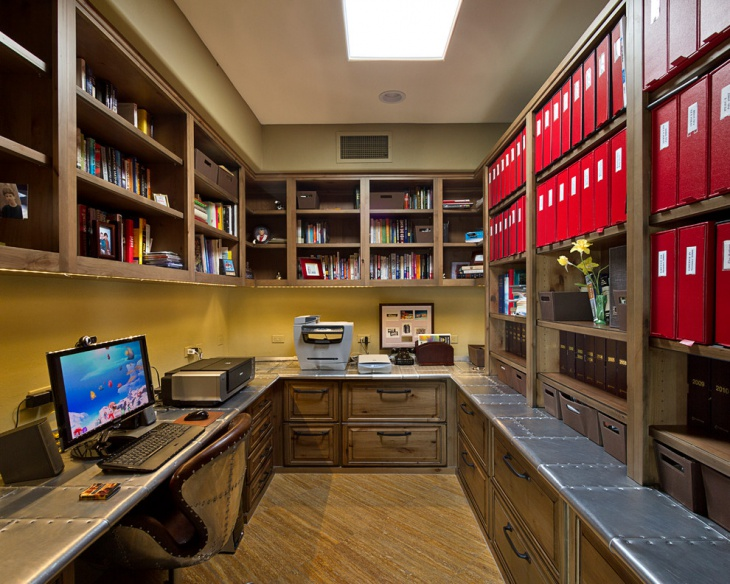 Home Office With Library
