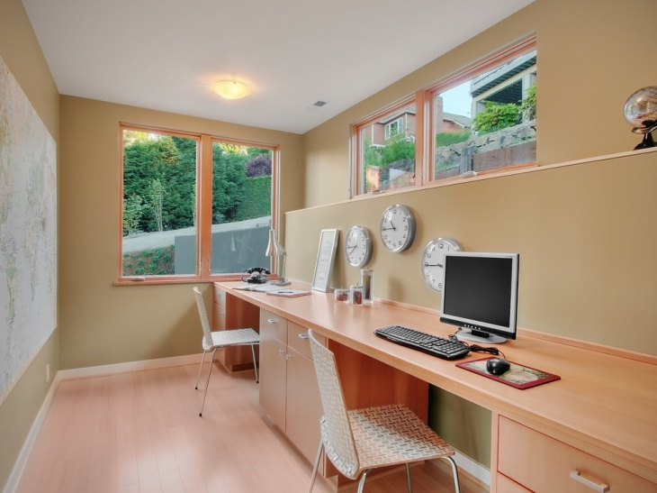 Contemporary Style Home Office For Small Space