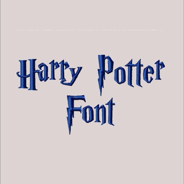 Harry Potter Font Machine Embroidery