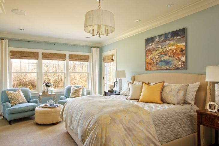 Pastel Blue Bedroom Wall Mural