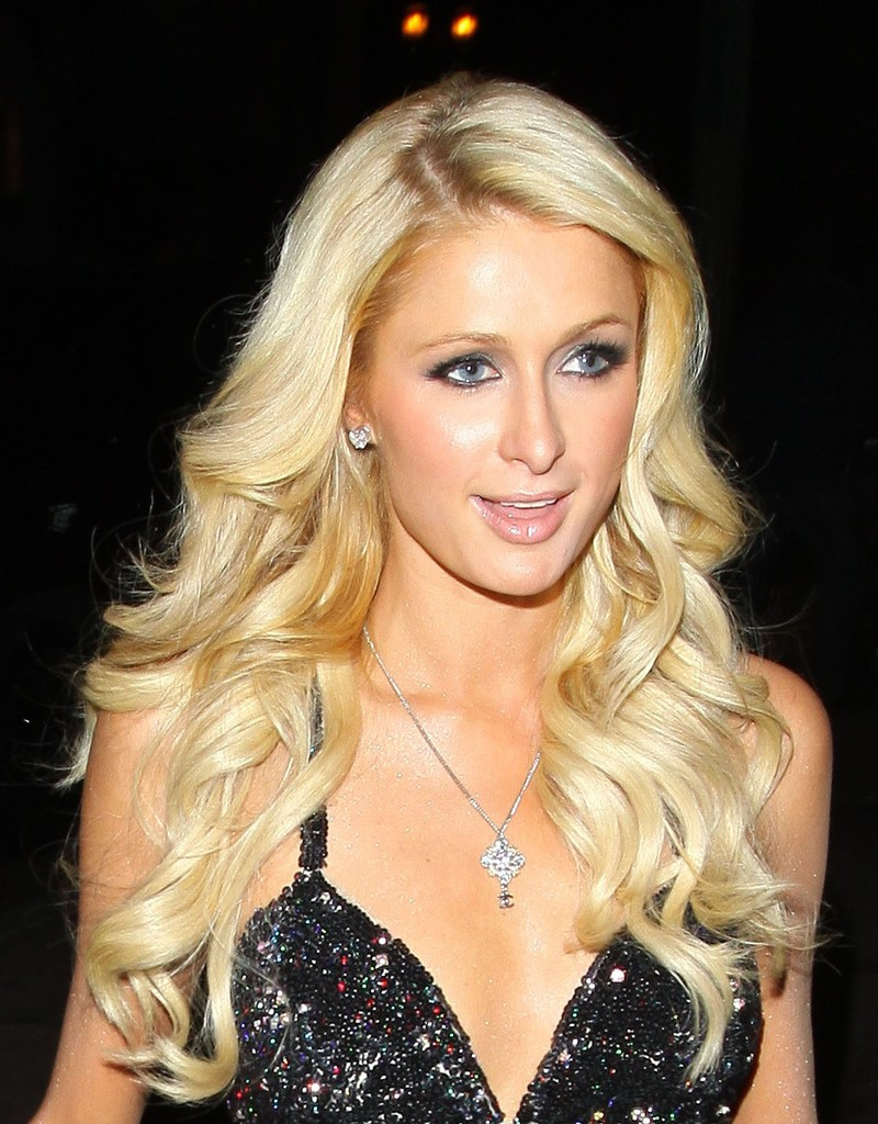 Paris Hilton Long Blonde Hairstyle