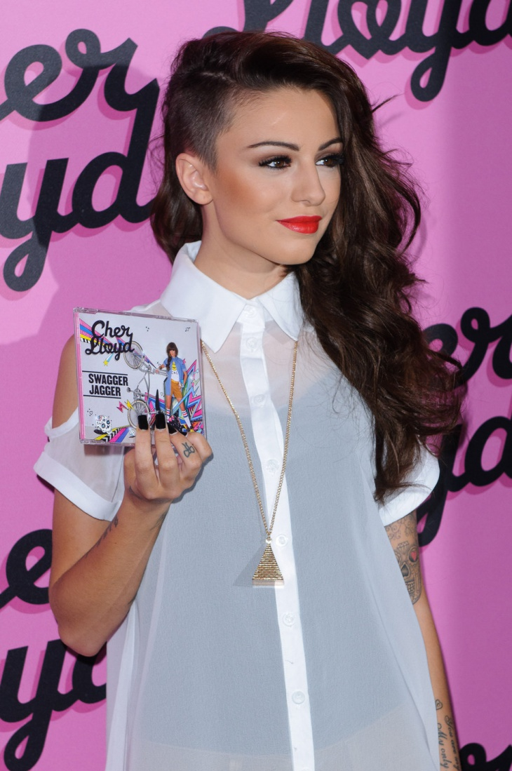 Cher Lloyd Long Side Shaved Hairstyle