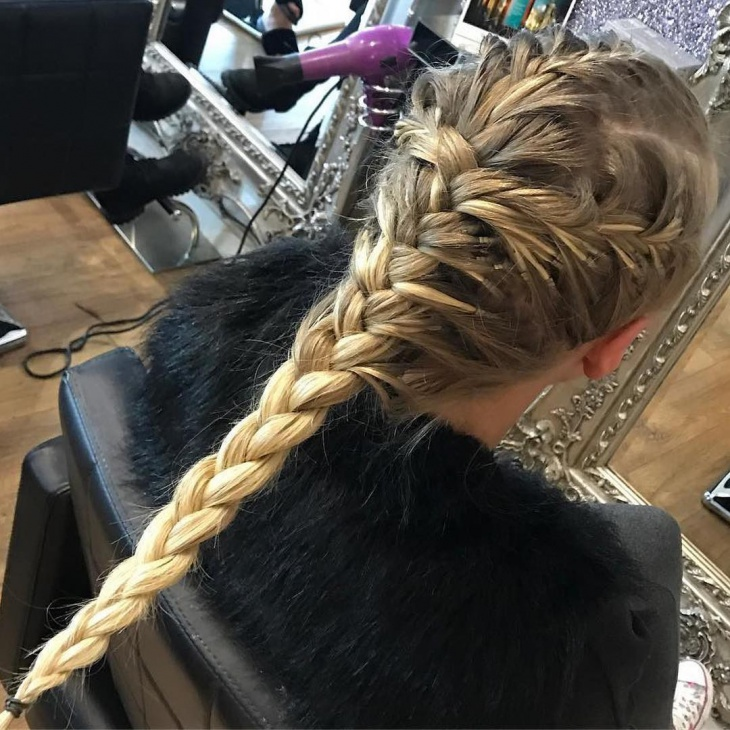 Unique Long Braided Hairstyle