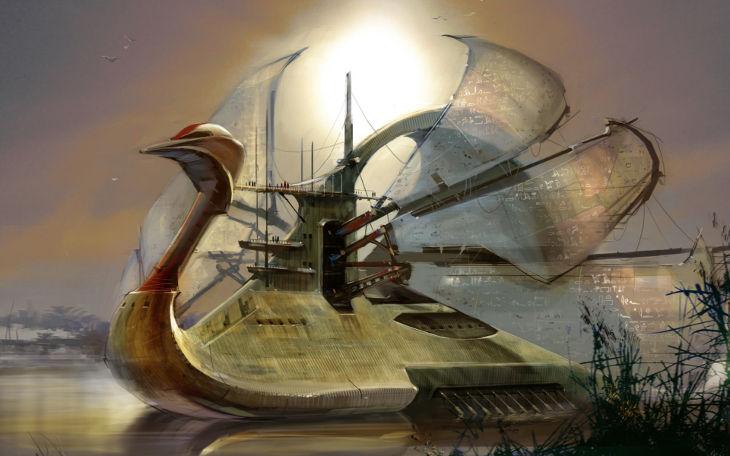Steampunk Ship Wallpaper