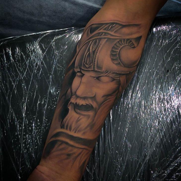 beautiful viking tattoo design