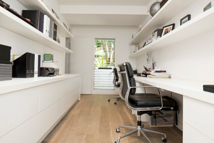 Home Office Small Space. Simple Interior For Small Space Home Office