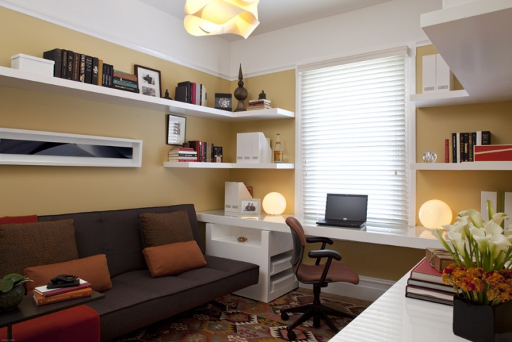 Small home office interior designs decorating ideas for Small office interior design images